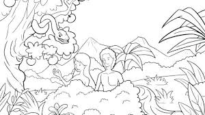 Quoet Adam Eve Coloring Pages H2483 And Eve Coloring Page With And