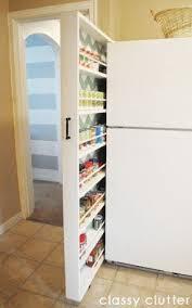 Narrow pantry cabinet