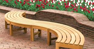 Curved Bench Seating With Storage Patio Plans Brighton Cushion. Curved  Patio Bench Plans Teak Cushion Es Seating Outdoor. Curved Bench Indoor  Seating Dining ...