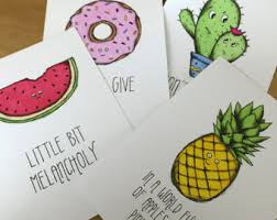 cute pineapple quotes. a5 illustration wall art set fun quirky designs and typography quotes- cacti cactus, donut cute pineapple quotes
