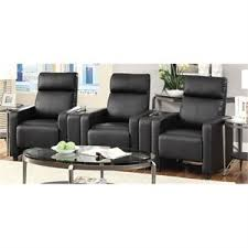 back home furniture. Coaster Push Back Home Theatre Recliner With Cupholders In Black Furniture