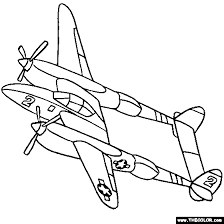 Small Picture Airplanes Online Coloring Pages Page 1