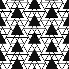 Black And White Patterns Custom Simple Reticulate Triangle Net Shape Black And White Seamless