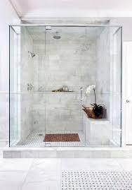 white marble tiles master bathroom shower design ideas
