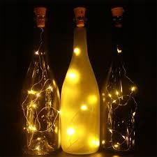 wine lighting. Amazon.com: 6 Pack Warm White Solar Powered Wine Bottle Lights,39inch 10 LED Bright Lights For Bottles,Cork Bottle,String Indoor,Copper Lighting
