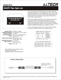 On Off Fiber Optic Link Model 2813 Manualzz Com