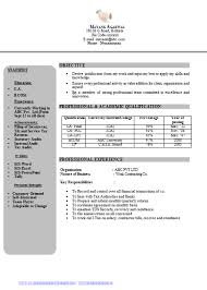 over 10000 cv and resume samples with free download free resume sample ca chartered accountant resume format for articleship