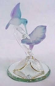 glass hummingbird figurines hand blown glass figurines 1 hanging glass hummingbird figurines
