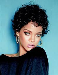 Rhianna Hair Style rihanna curly short hair hair style and color for woman 3480 by wearticles.com