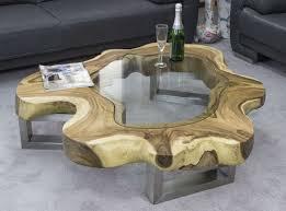 Designer Couchtisch Glas Und Holz