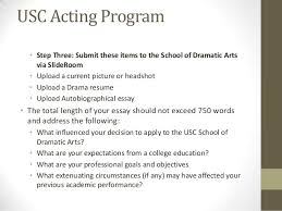 admit me why college application essays and artistic statements matt   application 13 usc acting