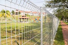 wire fence panels like these can be purchased and installed quickly and effectively around any property