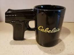 Cabelas pistol grip coffee mug ceramic cup black hand gun handle very nice! Cabela S Revolver Gun Grip Handle Coffee Mug Cup Black 16oz Ceramic Ebay