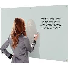 whiteboard 72 x 48.  Whiteboard Magnetic Glass Whiteboard  72 X 48 White On X