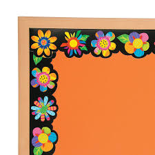 Notice Board Design Templates Poppin Pattern Spring Flower Bulletin Board Borders