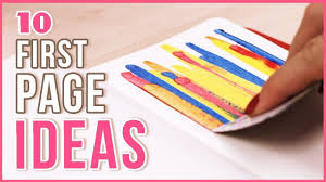 art cover page ideas 10 ideas for the first page in your sketchbook art journal