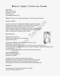 Best Ideas Of Sterile Processing Technician Resume Sample Lovely Ekg