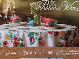 pioneer woman tablecloth fl country garden round 70 inches