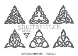 vector celtic trinity knot part 3 ethnic ornament geometric design vector ilration set
