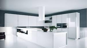 contemporary kitchen white