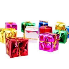Mini <b>12pcs Christmas Ornaments</b> Foam Gift Box Xmas Tree Hanging ...