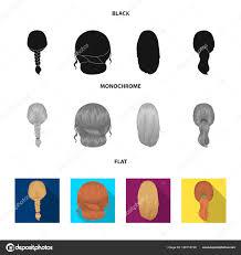 軽い三つ編み魚の尾とヘアスタイルの他の種類バックの髪型は黒