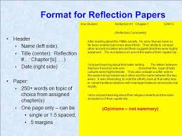 introductory info for assignments ppt video online  format for reflection papers