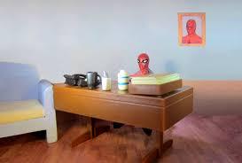extraordinary ideas spiderman at desk spider man design