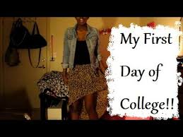 college series my first day of college mini ootd