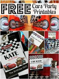 Free Cars Printables Free Cars Birthday Party Printables All Things G D Party Plans