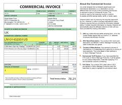 Commercial Shipping Invoice commercial shipping invoice international commercial invoice 1