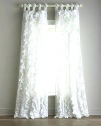 96 long white sheer curtains ruffle at cotton look voile soft c