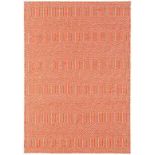 sloan orange geometric rug by asiatic 2