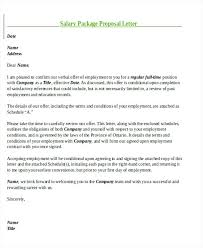 salary counteroffer letter counter offer letter template sample salary proposal letter 8