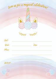 Unicorn Invitation Free Printable Templates Easy To Download