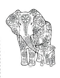 Elephant Printable Colouring Pages Baby Elephant Coloring Page