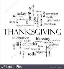 Word Thanksgiving Thanksgiving Words Illustration