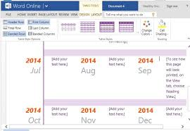 One Year Timeline Template One Year Timeline Maker Template For Word