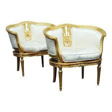 hollywood regency style furniture. Hollywood Regency Style Gilt Marquis Chairs - A Pair Furniture