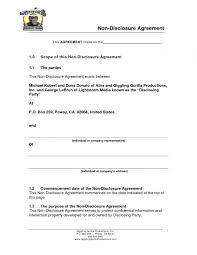 Confidentiality Agreement Template Sample Non Disclosure Agreement Template Invitation Templates Word 13