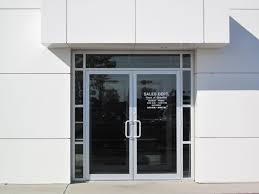 glass office front door and glass office entry door commercial door replacement