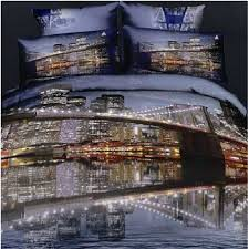 new york brooklyn bridge bedding set