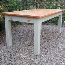 Farmhouse Kitchen Tables Uk Painted Shaker Kitchens And Bespoke Freestanding Dining Room