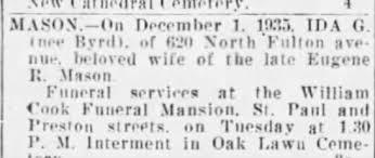 Obituary for IDA MASON - Newspapers.com