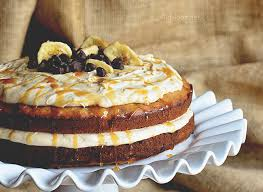 Chocolate Chip Banana Cake with Salted Caramel Frosting