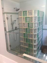 glass block bathrooms impressive on bathroom within showers shower kits 13