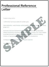 Professional Letter Of Reference Business Letter Reference ...