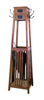coat and umbrella stand mission style coat rack brown coat rack and umbrella stand antique