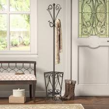 Coat Racks Free Standing Freestanding Coat Racks Umbrella Stands You'll Love Wayfair 88