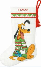 Disney Pluto Petite Size Stocking Crossstitchworld